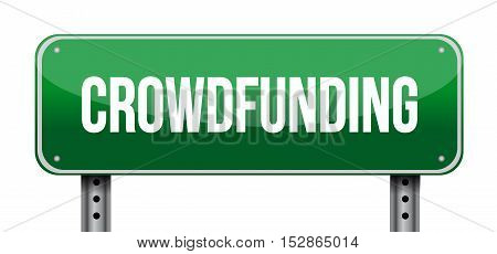Crowdfunding Street Sign Concept