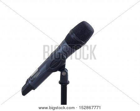 Microphone isolated on white background with clipping mask.