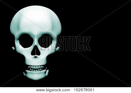 Halloween Skull In Blue