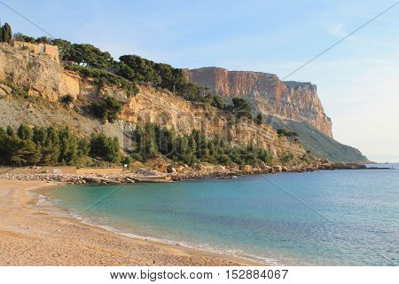 Cassis, town  situated on the Mediterranean coast in the  east of Marseille