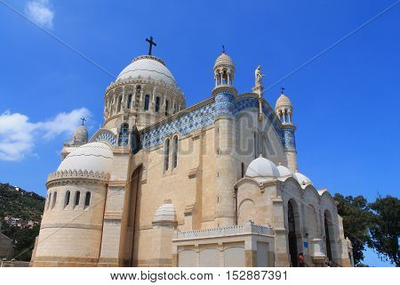 Basilica Notre dame d'Afrique in Algiers, capital city of Algeria