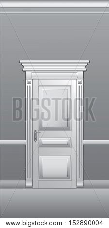 Door, architectural detail, vector illustration for web design and printing.