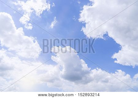 blue sky and cloudy pattern for background - can use to display or montage on product