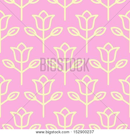 Retro Rose Flower Shaped Seamless Textured Background