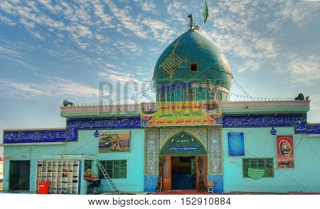 Mosque on the place of the prophet Abraham birth Borsippa Babil Iraq