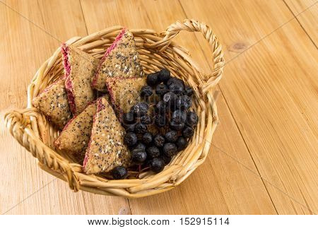Integral Cookies With Aronia On A Table