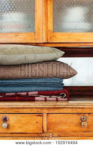 Pillows Lie Buffet House Furniture Storage