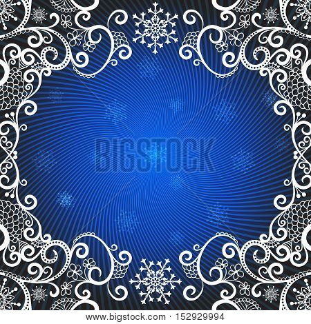 Christmas greeting card with rays and snowflakes vector eps10