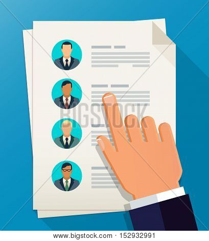Human resources. Employment. Team management flat illustration concepts. Concepts for web banners, web sites, printed materials, infographics. Creative vector icon