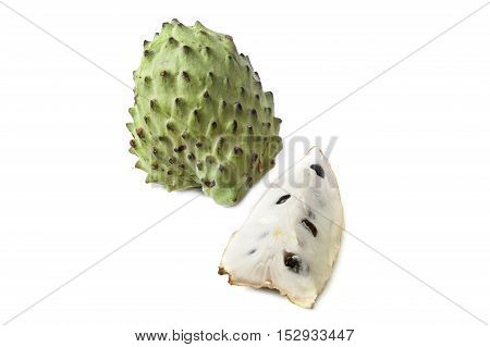 Sour sop, Graviola, Guyabano isolated on white background