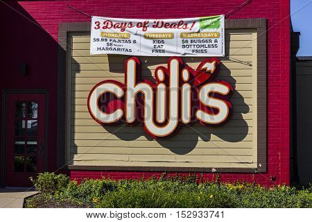 Indianapolis, IN - Circa October 2016: Chili's Grill & Bar Casual Dining Restaurant. Chili's is known for its Baby Back Ribs I