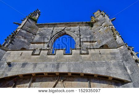 Saint Martin de Re France - september 25 2016 : the Saint Martin church