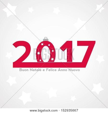 Sfondo festa Natalizia con nuovo anno 2017