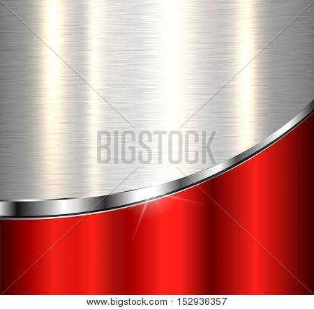 Metallic background, elegant vector design.