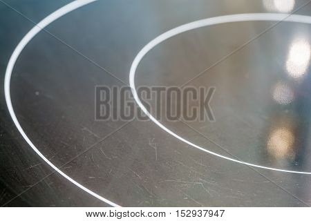 Surface Of Black Electric And Inductive Hob.