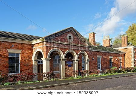 Old Victorian railway station in the UK