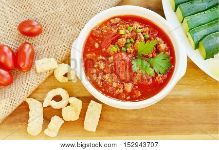 Northern Thai Meat and Tomato Spicy Dip ( Thai name is Nam prik ong)