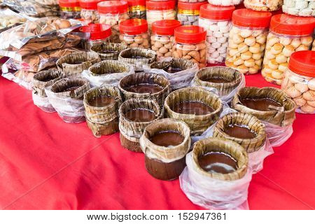 Glutinous Rice Cake With Cookies For Chinese Festive Celebration