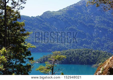 A lake among Mountains in  Patagonia Argentina