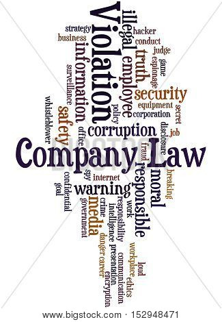 Company Law Violation, Word Cloud Concept 5