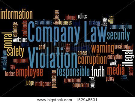 Company Law Violation, Word Cloud Concept 7