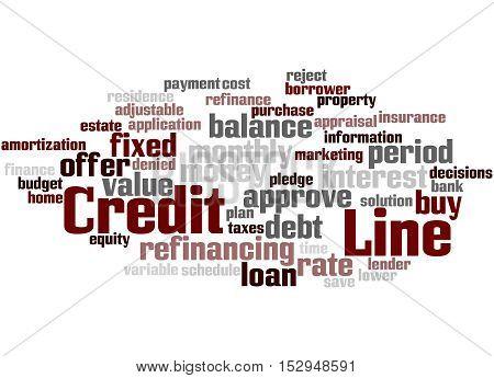 Credit Line, Word Cloud Concept 4