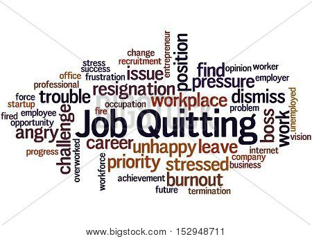 Job Quitting, Word Cloud Concept