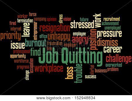 Job Quitting, Word Cloud Concept 3