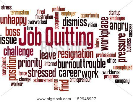 Job Quitting, Word Cloud Concept 6