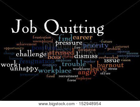 Job Quitting, Word Cloud Concept 8