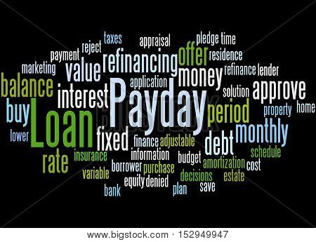 Payday Loan, Word Cloud Concept 4