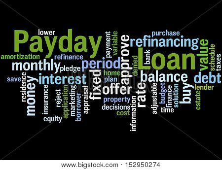 Payday Loan, Word Cloud Concept 6