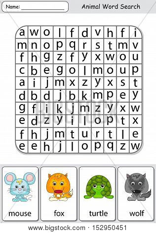 Logic Game For Learning English. Find The Hidden Words