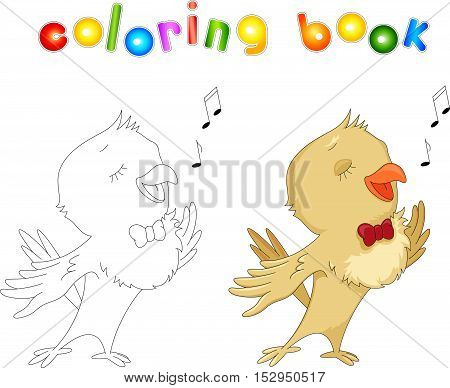 Cartoon Nightingale Coloring Book