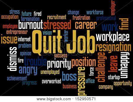 Quit Job, Word Cloud Concept 3