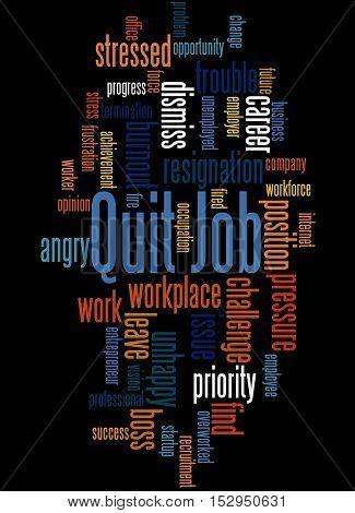 Quit Job, Word Cloud Concept 5