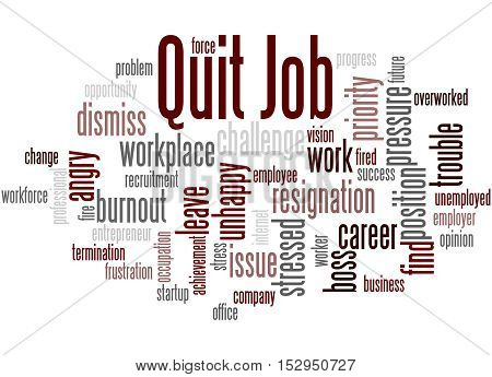 Quit Job, Word Cloud Concept 6