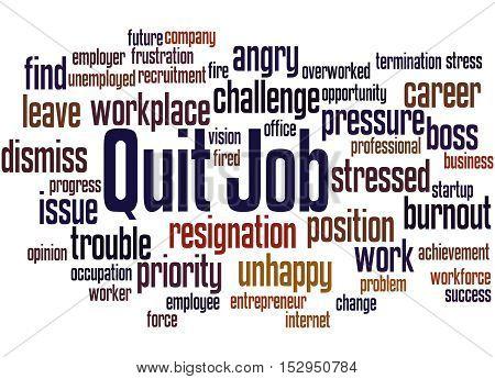 Quit Job, Word Cloud Concept 8