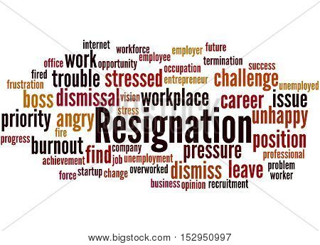 Resignation, Word Cloud Concept 8