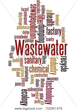 Wastewater, Word Cloud Concept