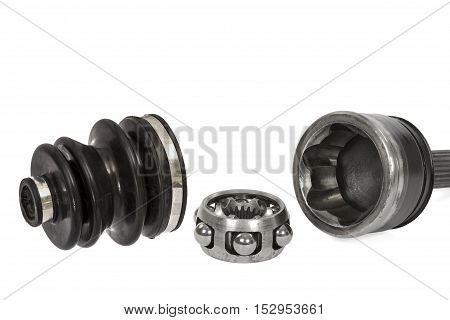 Anther and hinge of the wheel car isolated on white background