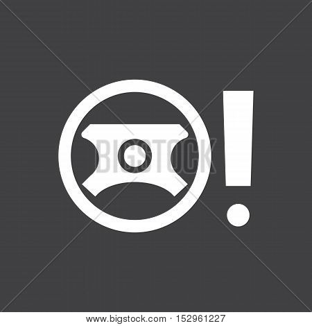 Faulty power steering sign. Car dashboard icon. Vector illustration