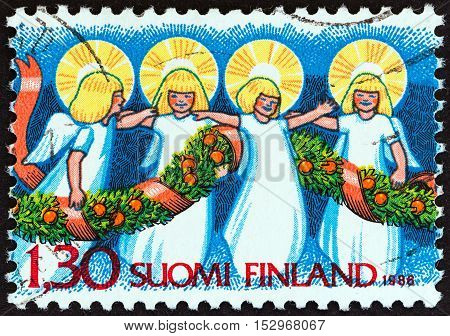 FINLAND - CIRCA 1986: A stamp printed in Finland from the