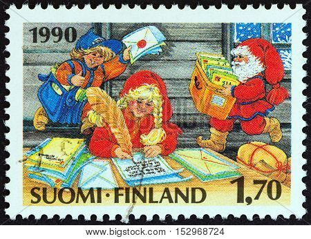 FINLAND - CIRCA 1990: A stamp printed in Finland from the