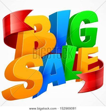 Big Sale Inscription & Ribbon