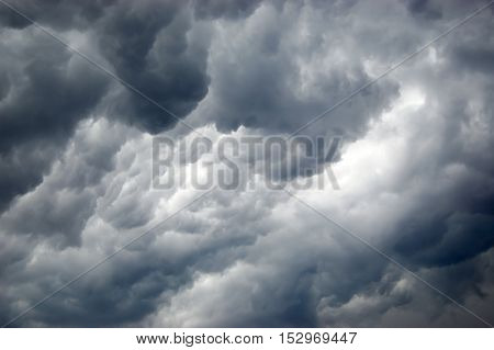 Amazing dark storm clouds in the sky.