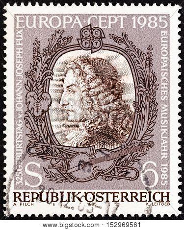 AUSTRIA - CIRCA 1985: A stamp printed in Austria from the