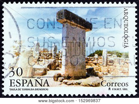 SPAIN - CIRCA 1995: A stamp printed in Spain from the