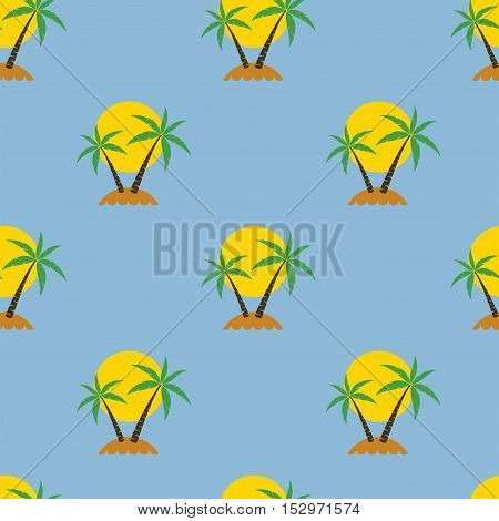 vector abstract seamless palm tree travel background
