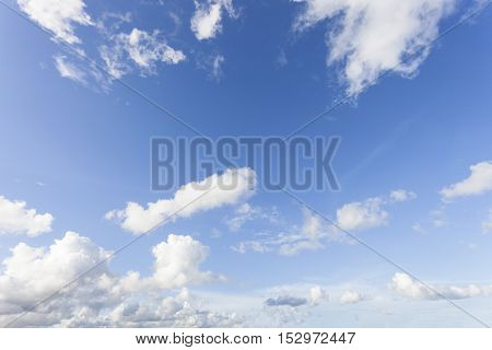 Blue Sky and cloud Good weather day background.